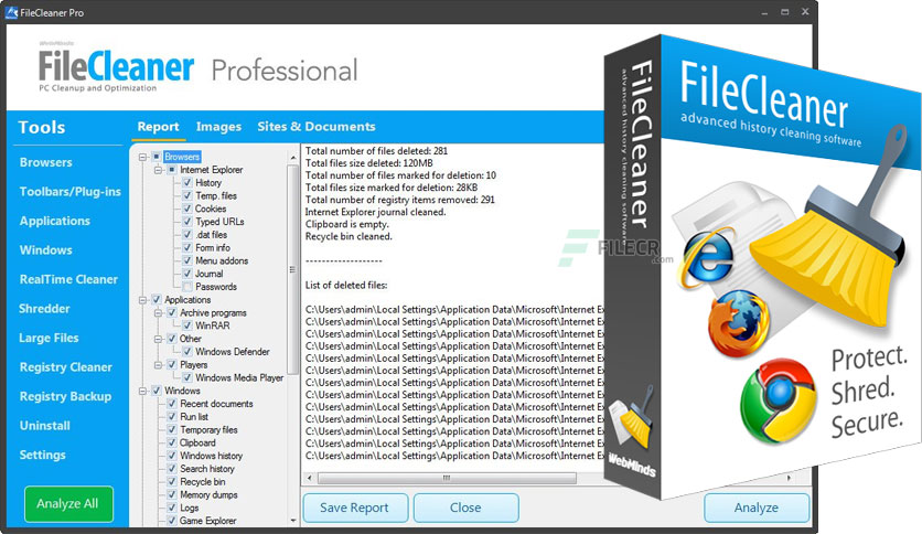 WebMinds FileCleaner Pro v4.9.0 Build 332 Crack + Keygen 2022
